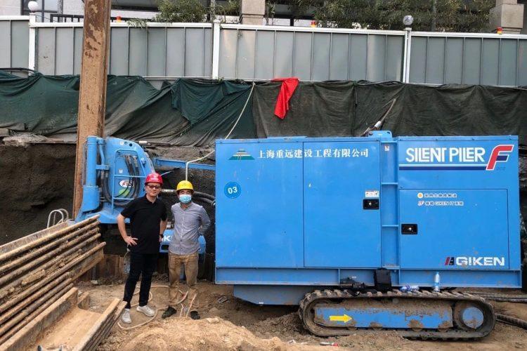 郑州首次应用静压植入工法